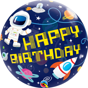 """Bubble 22"""" Birthday Outer Space (Pkgd.), QBB-13079 (0) <10 個/包>"""