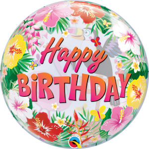 """Bubble 22"""" Tropical Birthday Party (Pkgd.), QBB-87740 (0) <10 個/包>"""