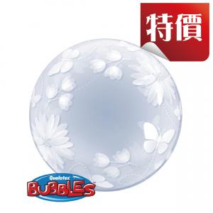 """Deco Bubble 20"""" Butterflies & Flowers (Pkgd.), QBDECO-11560"""