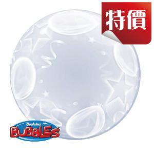 "Deco Bubble 24"" Balloons & Stars (Pkgd.), QBDECO-16661"