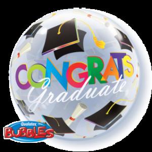 """Bubble 22"""" Congrats Graduation Caps (Pkgd.), QBB-30197 (0) <10 個/包>"""