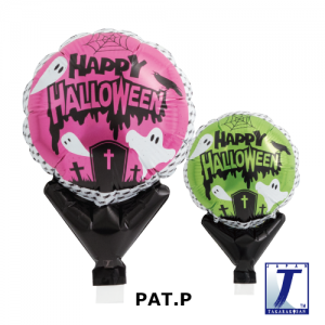 "Upright Balloon 5""/ Printed_Halloween Ghost Pink & Green (Non-Pkgd.), TK-UPB-I810558 <10 個/包>"