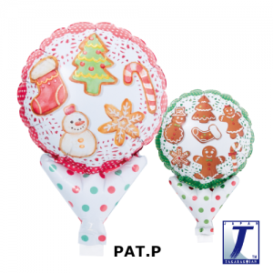 "Upright Balloon 5""/ Printed_Ginger Cookies (Non-Pkgd.), TK-UPB-I810564 <10 個/包>"