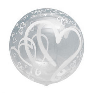 T-Balloon Round-Printed 490mm Pair Heart (10ct) , TK-TB-RI410010