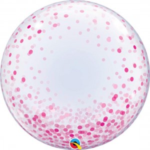 "Deco Bubble 24"" Pink Confetti Dots (Pkgd.), QBDECO-57790 (0) <10 個/包>"