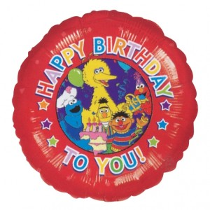 "Anagram Foil - 18"" Sesame Street Birthday Party , A-A3-70045"
