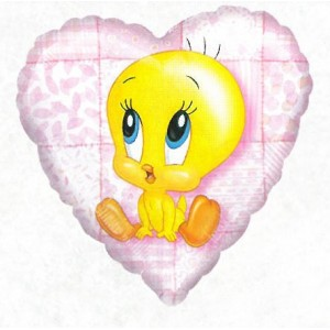 "Anagram Foil - 18"" Tweety (Heart Shape) , #A-S60-07422"