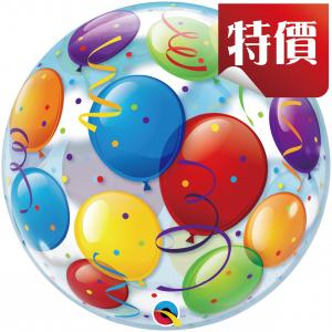 "Bubble 22"" Balloons (Pkgd.), QBB-15606 (2)"