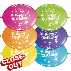 "12"" QuickLink* Birthday - Tropical Assortment (50ct) , QL12LI14259 (D)"