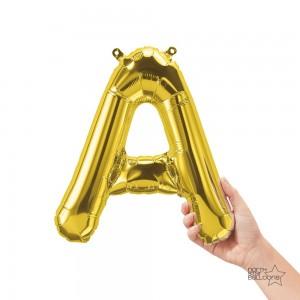 "Northstar Foil - 16"" Letter ""A"" - Gold / Mini Shape _ Air / Valved (Pkgd.), NS-16-59434G"