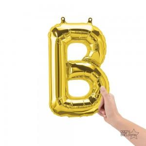 """Northstar Foil - 16"""" Letter """"B"""" - Gold / Mini Shape _ Air / Valved (Pkgd.), NS-16-59436G"""