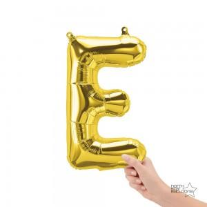 """Northstar Foil - 16"""" Letter """"E"""" - Gold / Mini Shape _ Air / Valved (Pkgd.), NS-16-59442G"""