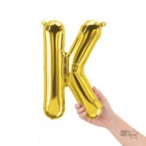 """Northstar Foil - 16"""" Letter """"K"""" - Gold / Mini Shape _ Air / Valved (Pkgd.), NS-16-59516G"""