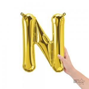 """Northstar Foil - 16"""" Letter """"N"""" - Gold / Mini Shape _ Air / Valved (Pkgd.), NS-16-59522G"""