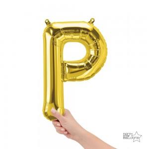 """Northstar Foil - 16"""" Letter """"P"""" - Gold / Mini Shape _ Air / Valved (Pkgd.), NS-16-59526G"""