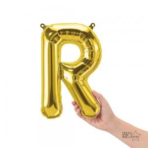 """Northstar Foil - 16"""" Letter """"R"""" - Gold / Mini Shape _ Air / Valved (Pkgd.), NS-16-59530G"""