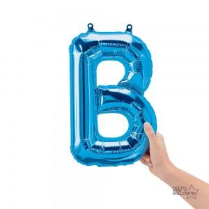 """Northstar Foil - 16"""" Letter """"B"""" - Blue / Mini Shape _ Air / Valved (Pkgd.), NS-16-59384B"""