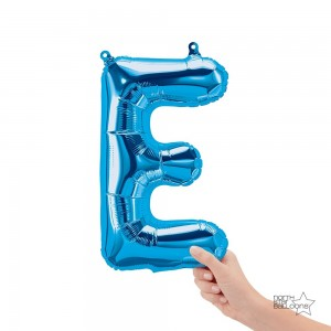 """Northstar Foil - 16"""" Letter """"E"""" - Blue / Mini Shape _ Air / Valved (Pkgd.), NS-16-59390B"""