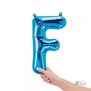 "Northstar Foil - 16"" Letter ""F"" - Blue / Mini Shape _ Air / Valved (Pkgd.), NS-16-59392B"