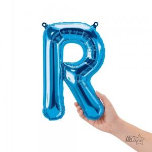 """Northstar Foil - 16"""" Letter """"R"""" - Blue / Mini Shape _ Air / Valved (Pkgd.), NS-16-59416B"""