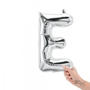 """Northstar Foil - 16"""" Letter """"E"""" - Silver / Mini Shape _ Air / Valved (Pkgd.), NS-16-59608S"""