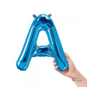 "Northstar Foil - 16"" Letter ""A"" - Blue / Mini Shape _ Air / Valved (Pkgd.), NS-16-59382B"