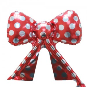 Foil - Ribbon Polka Dot (Red w/ Silver) , TK-RB-22515