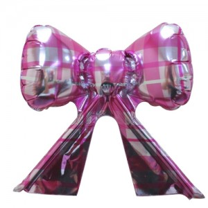 Foil - Ribbon Checker (Magenta w/ Silver) , TK-RB-22516