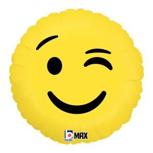 """Betallic Foil -Mini Shape-  9"""" Emoji Wink , B-09-32266"""
