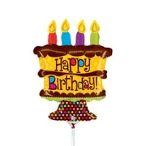 "Betallic Foil -Mini Shape- 14"" Birthday Cake , B-14-19675"