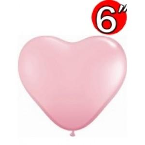 """Heart  6"""" Std Pink , QL06HS43642(1)"""
