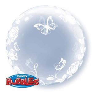 """Deco Bubble 24"""" Elegant Roses & Butterflies , *QBDECO-29718"""