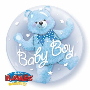"Double Bubble 24"" Baby Blue Bear , *QBD-29486"