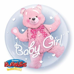"Double Bubble 24"" Baby Pink Bear , *QBD-29488"