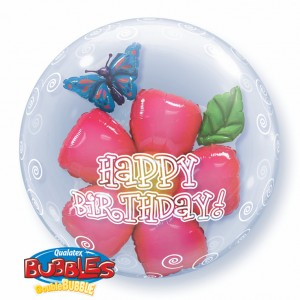 "Double Bubble 24"" Birthday Flower , *QBD-68805"