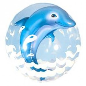 "Double Bubble 24"" Jumping Dolphin - Blue , QBD-82686"
