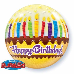 "Bubble 22"" Birthday Candles & Flosting , *QBB-10398"