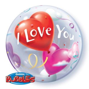 """Bubble 22"""" I Love You Heart (Pkgd.), QBB-16676 (0) <10 個/包>"""