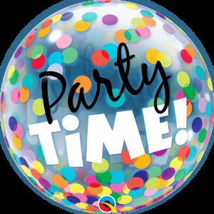 """Bubble 22"""" Party Time! Colorful Dots (Pkgd.), QBB-23636 (0) <10 Pcs/Bag>"""