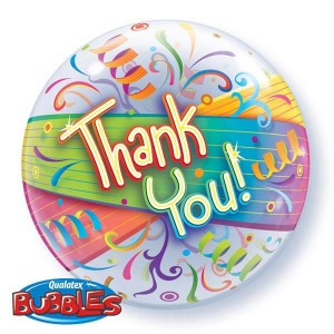 "Bubble 22"" Thank You Streamers , *QBB-27500"