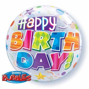 """Bubble 22"""" Birthday Party Patterns (Pkgd.), QBB-30808 (0) <10 個/包>"""