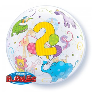"Bubble 22"" Age 2 Jungle Animals , #QBB-36369"
