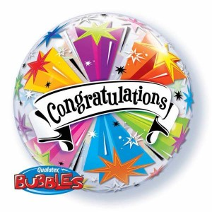 "Bubble 22"" Congratulations Banner Blas (Pkgd.), QBB-41190 (0) <10 Pcs/Bag>"