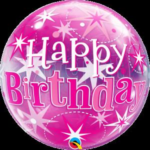 "Bubble 22"" Birthday Pink Starburst Sparkle (Pkgd.), QBB-43121 (0) <10 個/包>"