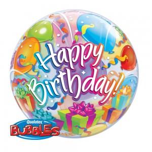 """Bubble 22"""" Birthday Surprise (Pkgd.), QBB-65407 (0) <10 Pcs/Bag>"""