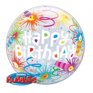 """Bubble 22"""" Birthday Lit Candles (Pkgd.), QBB-16658 (0) <10 個/包>"""