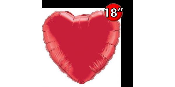 "Foil Heart 18"" Ruby Red (Non-Pkgd.), QF18HP23769 (2) <10 Pcs/包>"