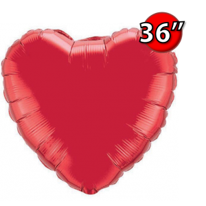 "Foil Heart 36"" 心形 Ruby Red , QF36HP12657 <Helium #D>"