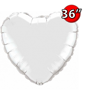 "Foil Heart 36"" 心形 Silver , *QF36HP12659 <Helium #D>"