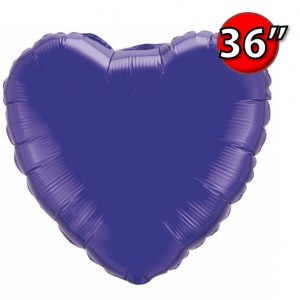 "Foil Heart 36"" 心形 Quartz Purple , QF36HP12670 <Helium #D>"
